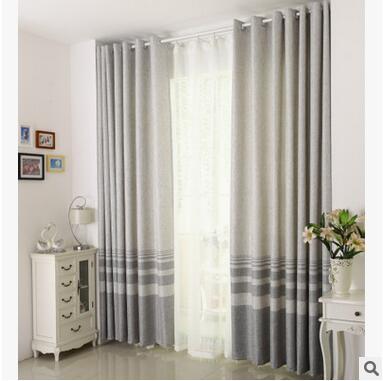 Baumwolle Leinen gestreiften Modernen Luxus Fenster Vorhänge für - Haustextilien - Foto 4
