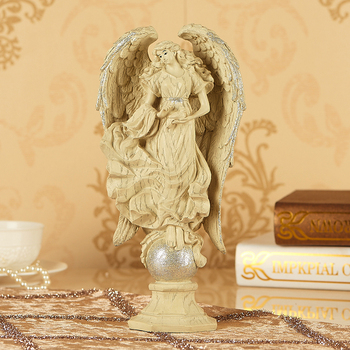 Environmental resin Europe style angle artcraft 14x7x29cm ornaments,furnishings home decoration birthday gift a2396