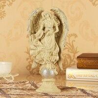 Resina ambiental Europa estilo ángulo artesanía 14x7x29 cm adornos, muebles para el hogar decoración regalo de cumpleaños a2396 genuino