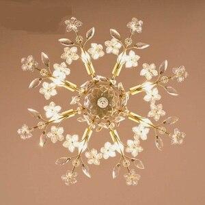 Estrada Luzes de Teto estudo criativo lâmpadas de ferro estilo Americano lâmpadas de cristal sala de estar sala de jantar teto 6/8 cabeças LU71120
