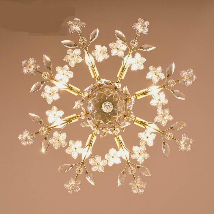 Road study Ceiling Lights creative lamps American style iron crystal living room dining room ceiling lamps 6/8 heads LU71120