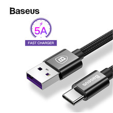 Baseus USB Type C 5A Cable for Huawei P20 Pro Lite Chager Cable USB C Quick Charge 3.0 Cable for Huawei P10 P9 Plus(China)