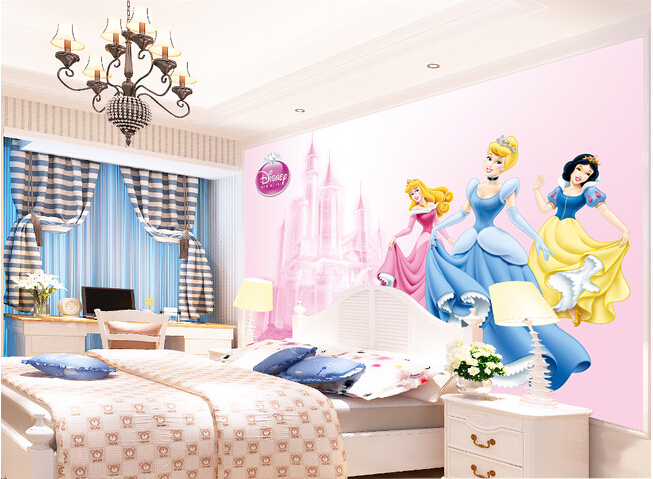 Custom papel DE parede infantil, princess murals for the bedroom of children room TV wall Embossed wallpaper papel DE parede custom wallpaper murals ceiling the night sky for the living room bedroom ceiling wall waterproof papel de parede