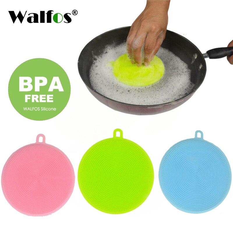 Brosse de nettoyage magique en Silicone, accessoires pour vaisselle, tampon à récurer, Pot, poêle, brosse de lavage, 1 pièce | AliExpress
