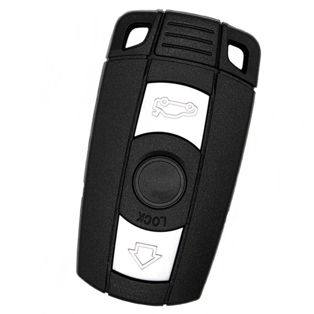 WhatsKey 3 botón remoto clave Shell caso para BMW 1 3 5 6 serie E60 E70 E71 E72 E82 E87 E88 E89 E90 E91 E92 X5 X6 con Logo