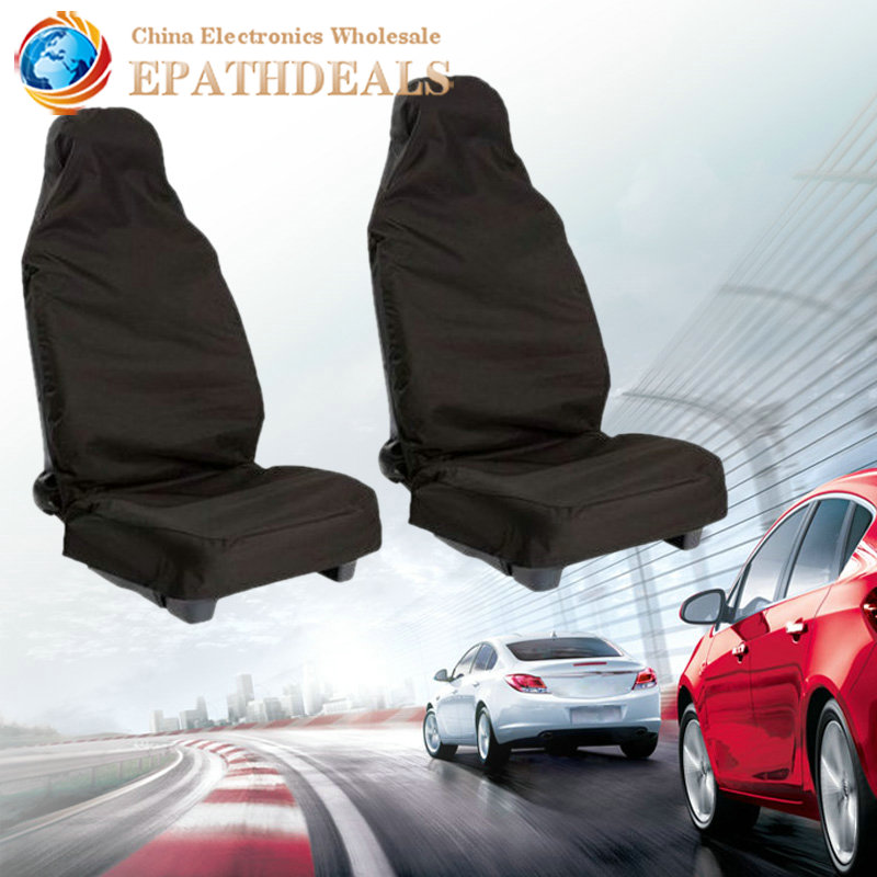 Front Universal Car Seat Cover Set Waterproof Nylon Auto Van Vehicle Protector