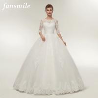 Fansmile New Arrival Lace Ball Wedding Dresses 2017 Plus Size Bridal Alibaba Wedding Dress Real Photo