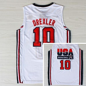 b198d99e4b74 Ediwallen 1992 American Dream Team One 10 Clyde Drexler USA Basketball  Jerseys