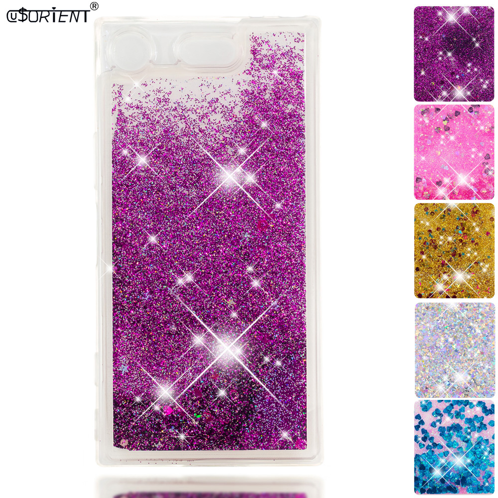 Phone Bags & Cases Loyal Glitter Case For Sony Xperia Xz1 Compact Bling Dynamic Liquid Quicksand Fitted Cover G8441 G8442 Silicone Tpu Phone Cases Funda Attractive Designs;