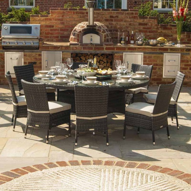 Hot Sale french provincial used contemporary wicker luxury dining room  furniture China  Mainland Compare Prices on Outdoor Dining Furniture  Online Shopping Buy  . Round Outdoor Dining Table For 8. Home Design Ideas