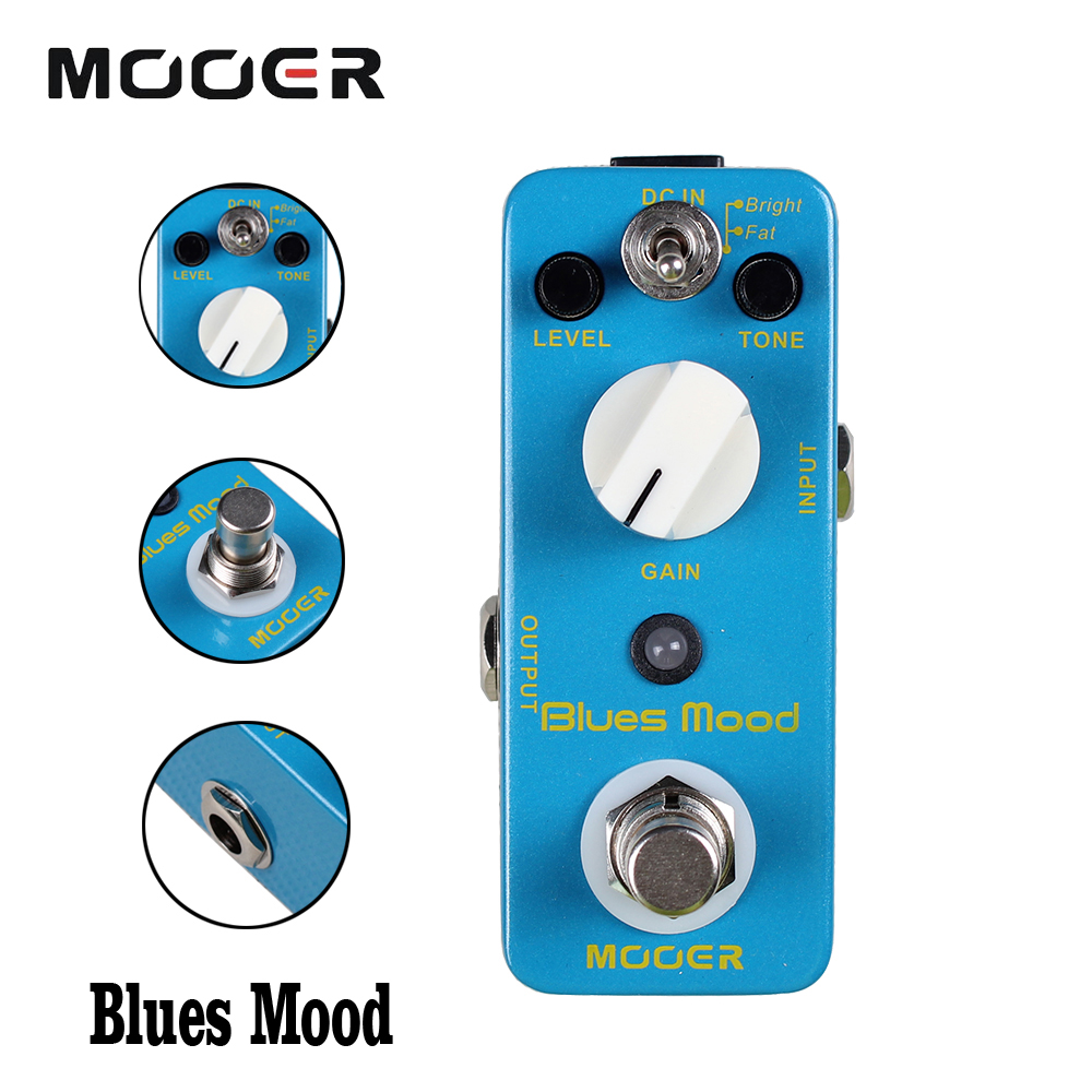 Mooer Bright/Fat 2 Working Modes Effects True Bypass Blues Mood Guitar Effect Pedal Full metal shell new effect pedal mooer solo distortion pedal full metal shell true bypass