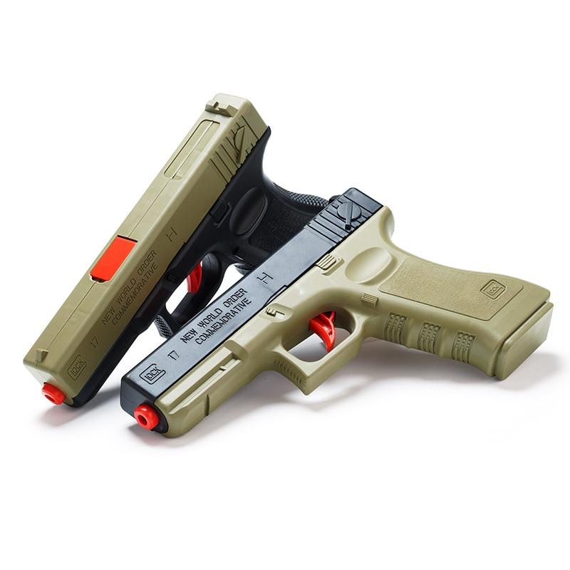 Outdoors Water Bullet Pistol Gun Toy Shooting CS Battle Games Soft Bullet Plastic Manual Gun Weapon Toys For Children Boys Gifts