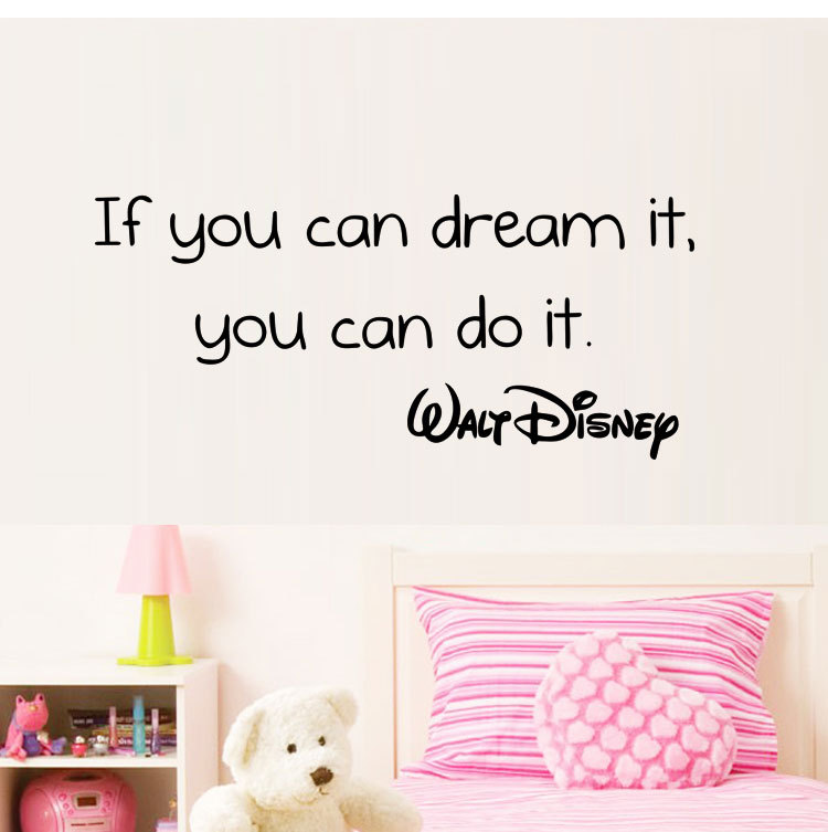 Positive QUOTES wall stickers If you can dream it you can do it removable vinyl home decoration wall decals BB-7