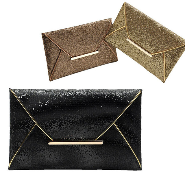 Women's Luxury Shimmer Envelope Wallet