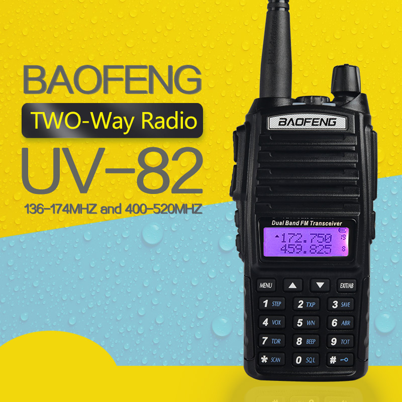 Baofeng UV-82 UV82 UV 82 Walkie Talkie Two Way CB Ham UHF VHF Radio Station Transceiver Boafeng Amador Scanner Handy Handheld