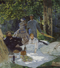 Painting Supplier Claude Monet The Lunch On the Grass Reproduction  For Wall Photo Printed Canvas Oil