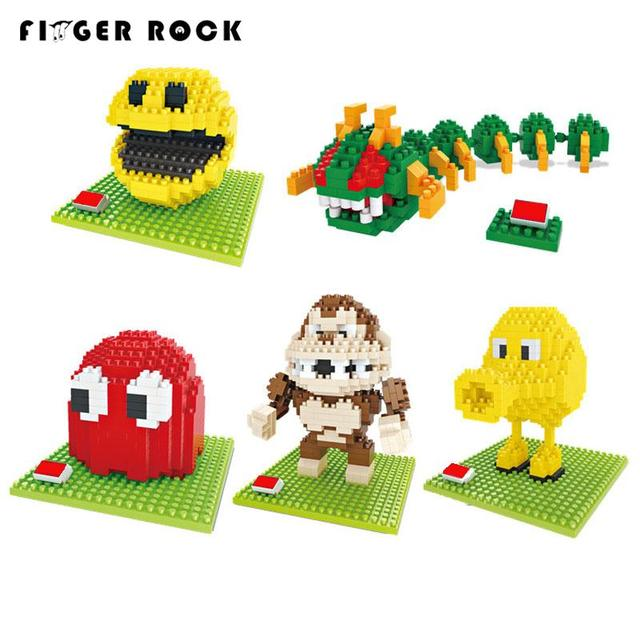 Pixels Move Mini Blocks Assemble Pacman Centipede Building Brick Model Classical Toys Gift for Collection