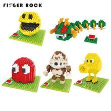 Pixels Move Mini Blocks Assemble Pacman Centipede font b Building b font Brick font b Model