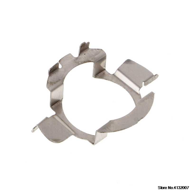 H7 HID Bohlam Logam Pemegang Adaptor Retainer Klip untuk BMW Audi Benz 828 Promosi