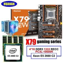 HUANAN X79 LGA2011 deluxe gaming motherboard Xeon E5 2660 C2 RAM 64G (4*16G) DDR3 1333 MHz RECC Kühler