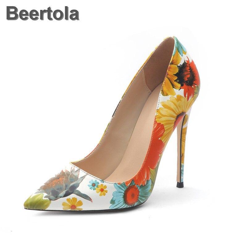 Cuir souple dames chaussures impression 3D en cuir verni femmes taille de la chaussure 11.5 antidérapant en caoutchouc classiques chaussures coréennes peu profondes pour les femmes