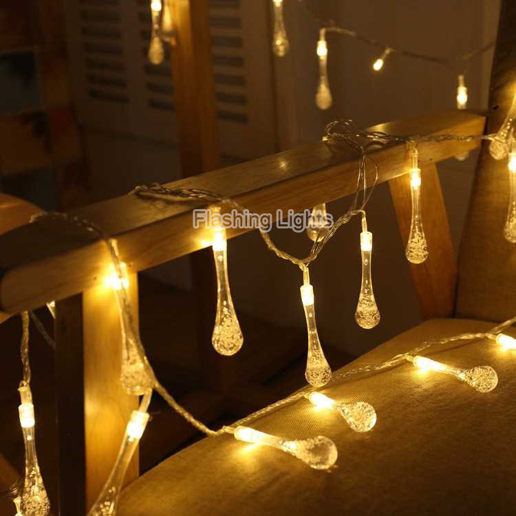 24LED Battery Crystal Bubble Water Drop String Light for Garden/Wedding/Party/Garlans /Christmas lights outdoor decorations