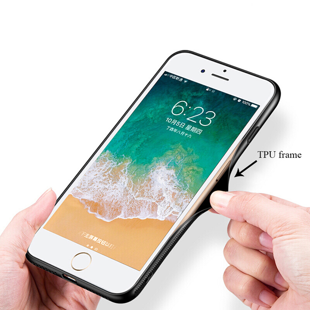 Pain Tempered Glass Soft Cover for iPhone Models