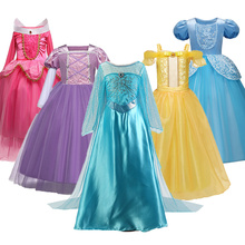 Christmas Girl Dresses Elsa Elza Costumes Princess Anna Dress for Girls Party Fancy Teenager Clothing Girls Clothing Elsa Set