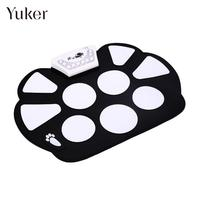Yuker Rubber Electric Drum Foldable Portable Roller Up USB Electronic Drum Kit Electric Musical Practice Instrument