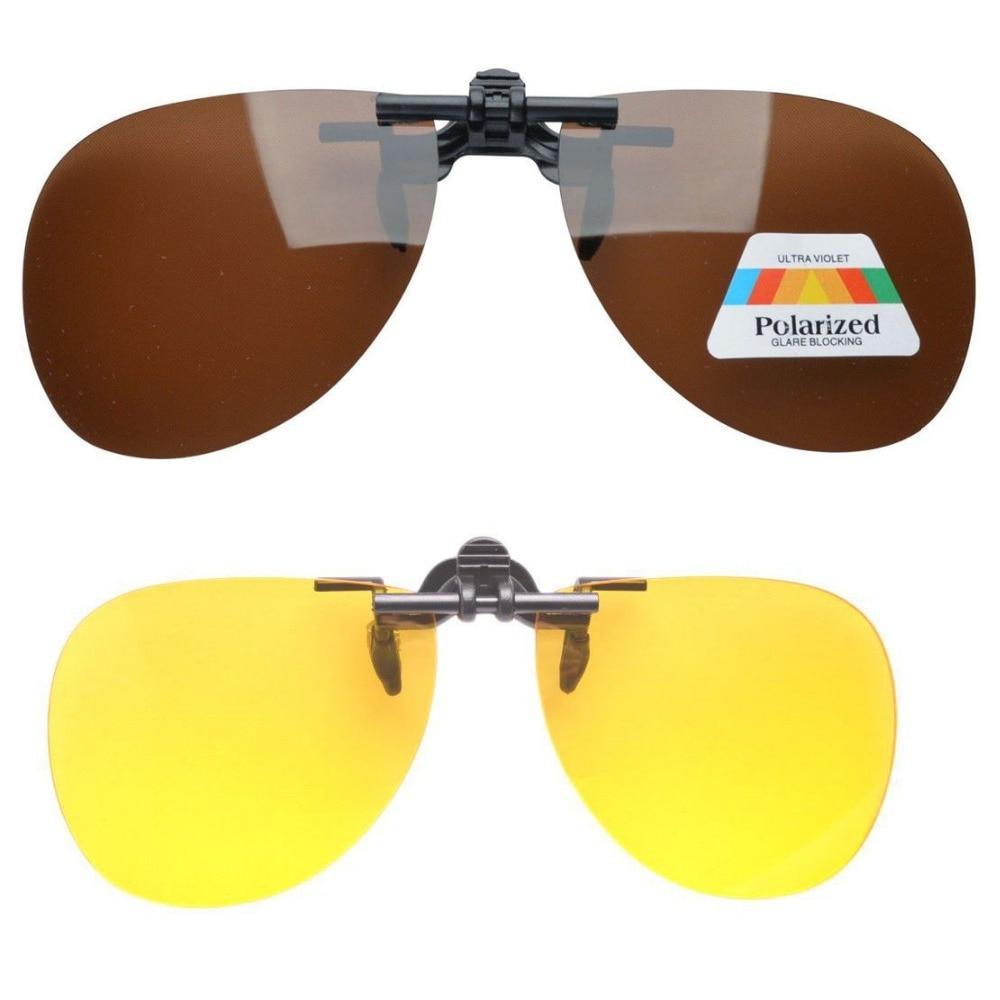 3df12951990465 F10 jour - nuit 2 paires Valupac Clip on Flip up lunettes de soleil avec  boîtier en plastique dur