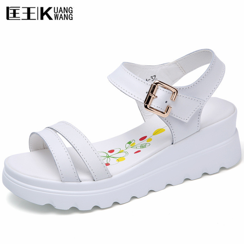 Women Shoes 2017 Summer Sandals Casual Shoes Platform Wedge Sandals Open Toe Sandals Female Wedges phyanic 2017 gladiator sandals gold silver shoes woman summer platform wedges glitters creepers casual women shoes phy3323