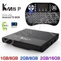 2 GB de Ram 16 GB S912 Octa Core TV Box KM8 P Android 6.0 Kodi H.265 Amlogic 4 K WiFi 1080 P Media Player IPTV KM8P i8 Teclado retroiluminada