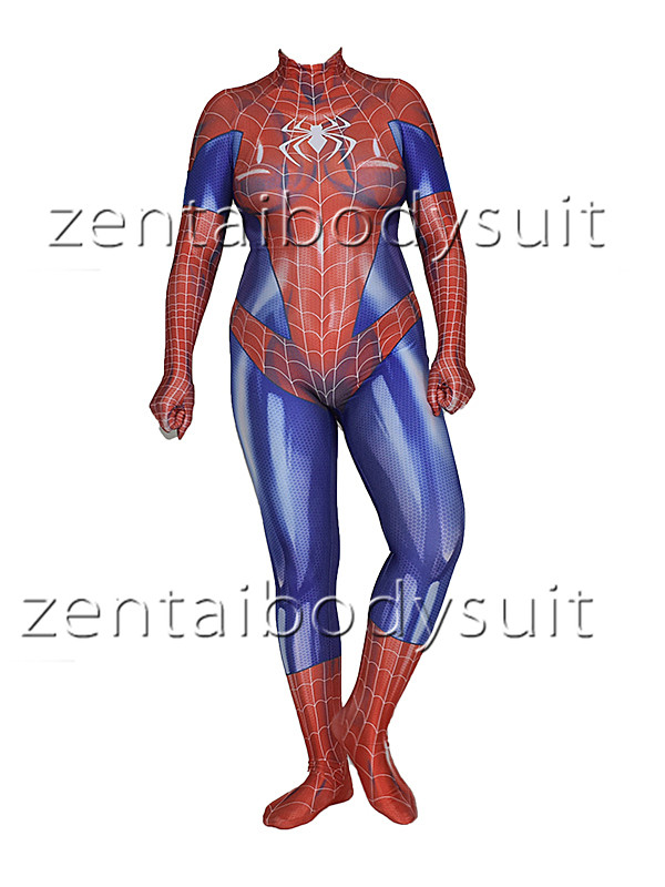 MJ Jamie Spider Costume Mary Jane Girl Cosplay Bodysuit Spandex Lycra Zentai Halloween Party suit free delivery