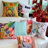 Wholesale Color Pencil Decoration Dual Purpose Cushion Stationery Shop Library Reading Room Sofa Seat Waist Cushion