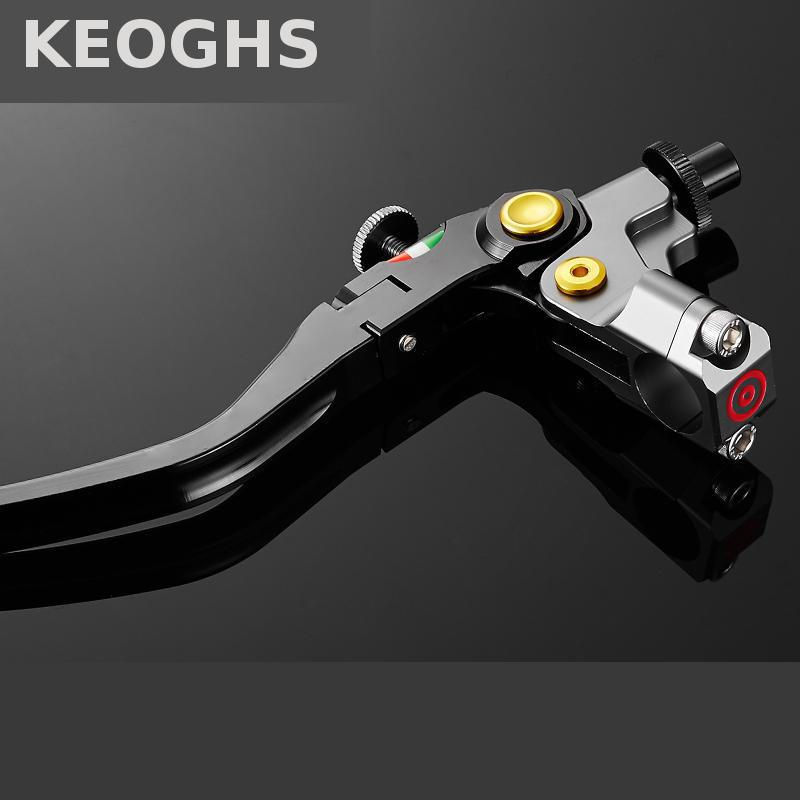 KEOGHS Motorcycle Accessories Left Brake Clutch Lever 22mm Universal Cnc Aluminum For Yamaha Honda Kawasaki Suzuki Ducati left 1 25mm universal motorcycle brake clutch master cylinder hydraulic pump lever for suzuki yamaha kawasaki honda