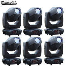 6Pcs/lot 200W Spot Light LED 3in1 Beam wash Gobo Color Fog Zoom Effect For Disco DJ Party Show(China)