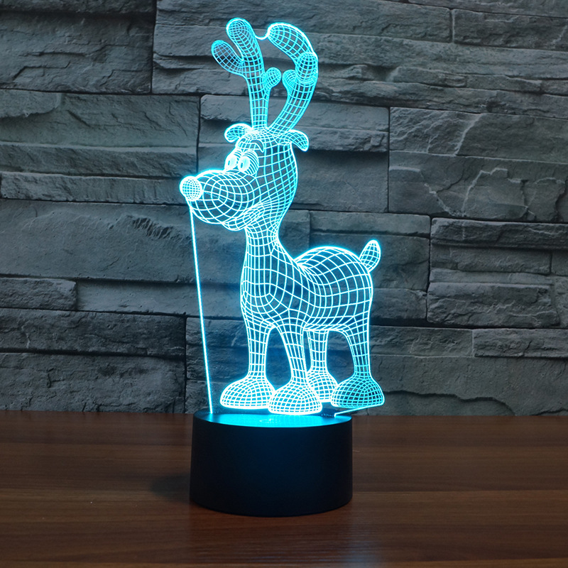 Creative Aesthetic Led Butterfly Small Deer Snowflake Small Night Lamp Led Lamps