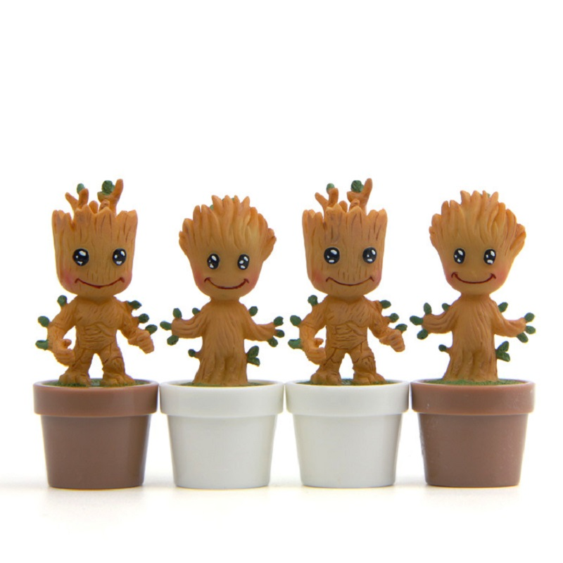 New Arrival 1pcs 5.5cm Tree Man Figure Toys Marvel Movie Guardians of the Galaxy Anime Tree Man Resin Collection Model Toys