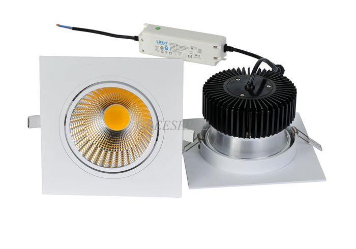 High Quality 30W Dali Triac Dimmable 110V 240V COB LED Downlight Recessed Ceiling Down Lights Lamp 2700-6000K 8pcs CRI 80/85/90 europe new design luna cob 8 downlight led 35w high bright 120lm w cri 80 rotatable led indoor ceiling recessed spot lamps