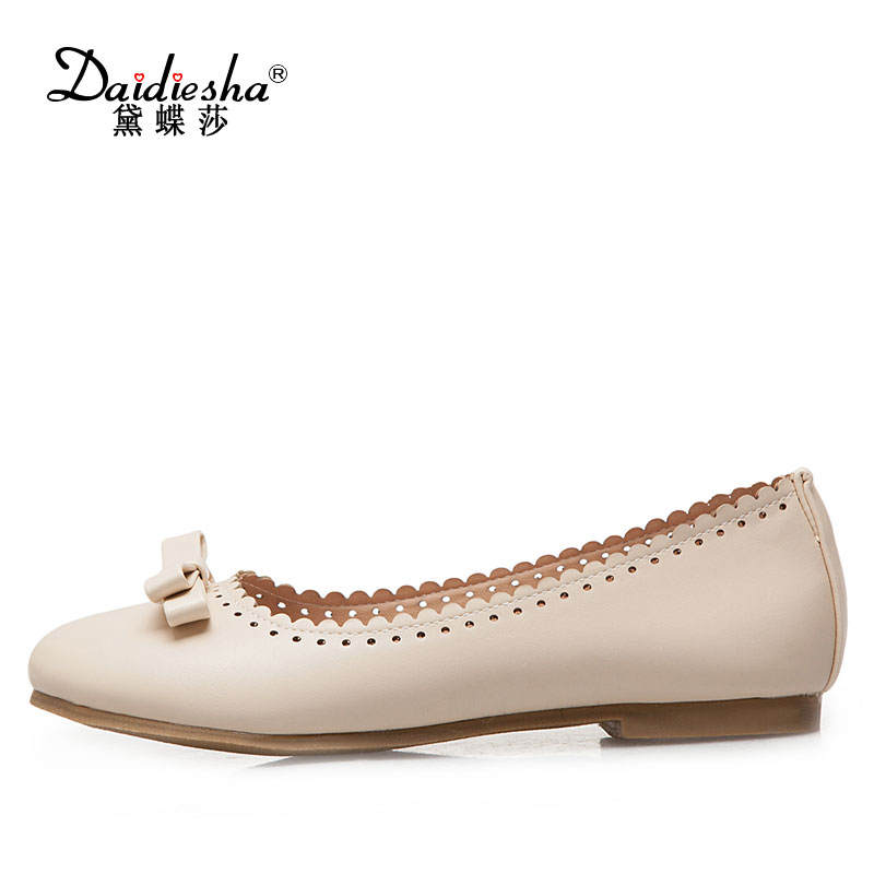 Daidiesha Women Flats Shoes Sweet Bow-knot Woman Slip-On Ballerina Flat Shoes ladies footwear Female Casual Travel Walk Flats female high quality sweet bow knot plus size 35 44 round toe women shoes on flats casual footwear matching shoes and bags italy