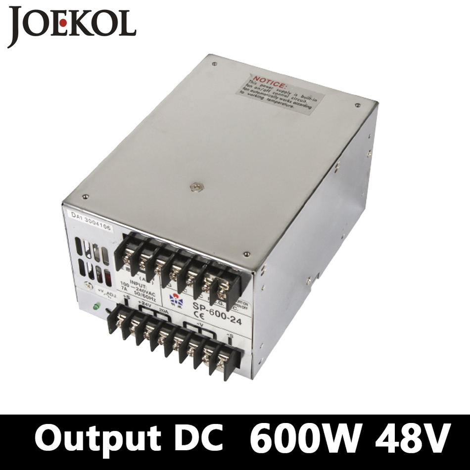 PFC Switching Power Supply 600W 48v 12.5A,Single Output Industrial-grade Power Supply,AC110V/220V Transformer To DC 48 sp 500 48 pfc switching power supply 500w 48v 10 4a single output industrial grade power supply ac110v 220v transformer to dc 48