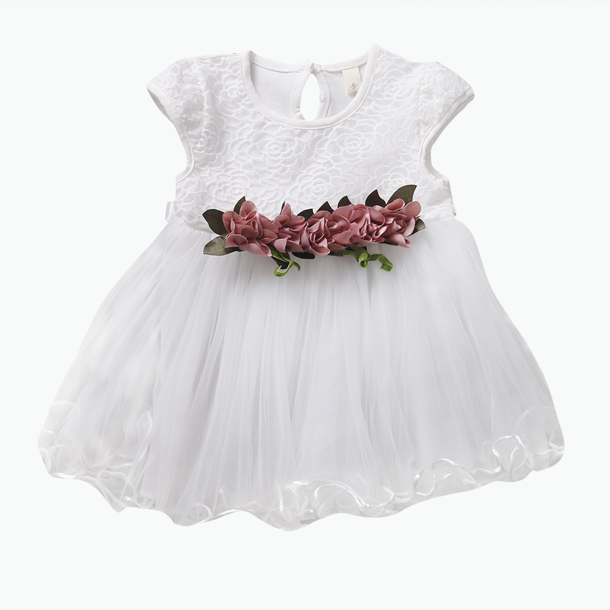 Princess Baby Girls Lace Dress Toddler Infant Kids Baby Girls Sleeveless Ball Gown Cotton Kids Girls Summer Floral Dress Outfits infant toddler kids baby girls summer outfit cotton striped sleeveless tops dress floral short pants girls clothes sunsuit 0 4y