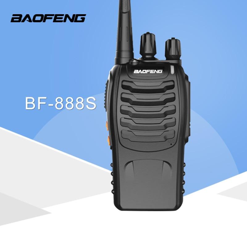 1 PCS Baofeng BF-888S Walkie Talkie 5 W Genggam Pofung UHF 5 W 400-470 MHz 16CH Dua arah Radio CB Portabel