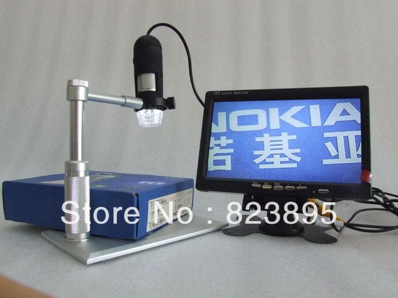 New fashion aluminium alloy bracket AV 1200X digtal microscope ,AV handheld endoscope camera,adapt to TV ,LCD monitor цена