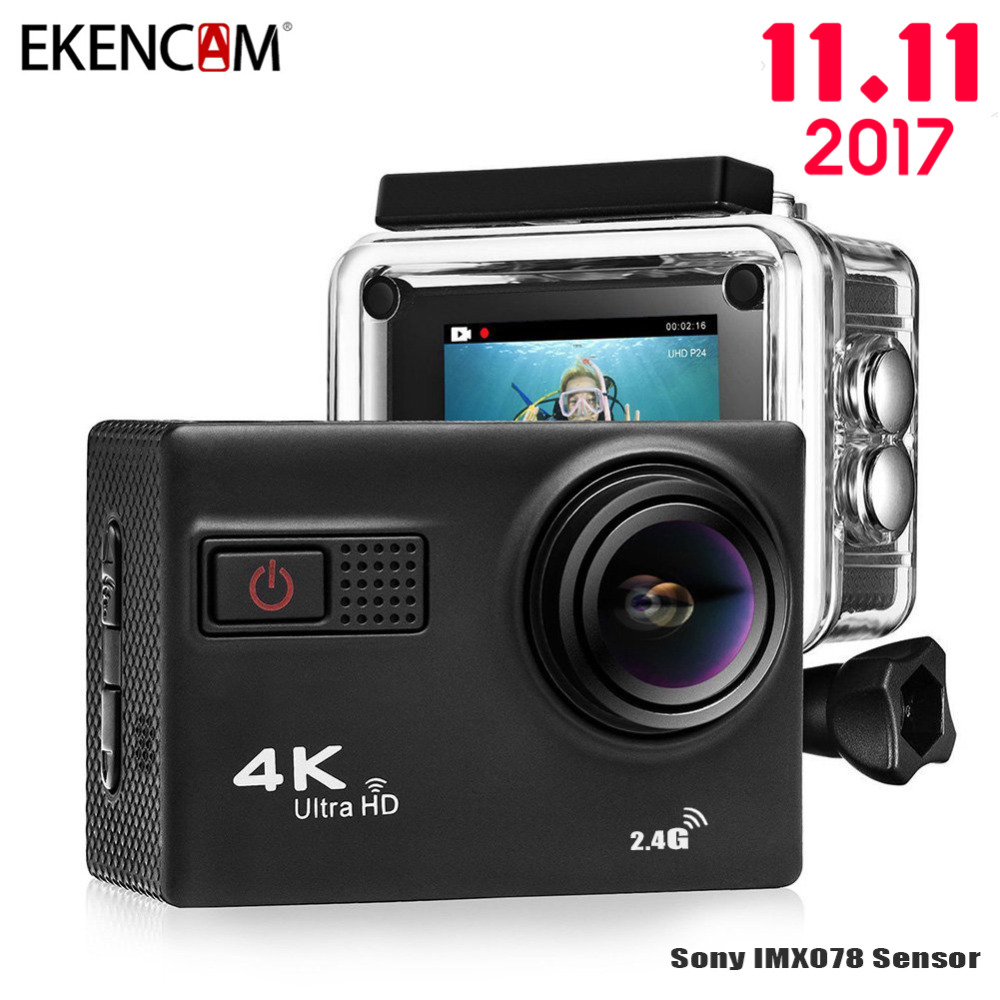 EKENCAM F68 4K Ultra HD Action Camera Novatek 96660 Chipset Sony IMX078 Sensor Gopro Hero 4 Style Wi-Fi Remote Waterpoof Camera аксессуар gopro wi fi smart remote armte 002