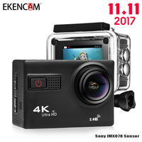 EKENCAM F68 4K Ultra HD Action Camera Novatek 96660 Chipset Sony IMX078 Sensor Gopro Hero 4 Style Wi Fi Remote Waterpoof Camera
