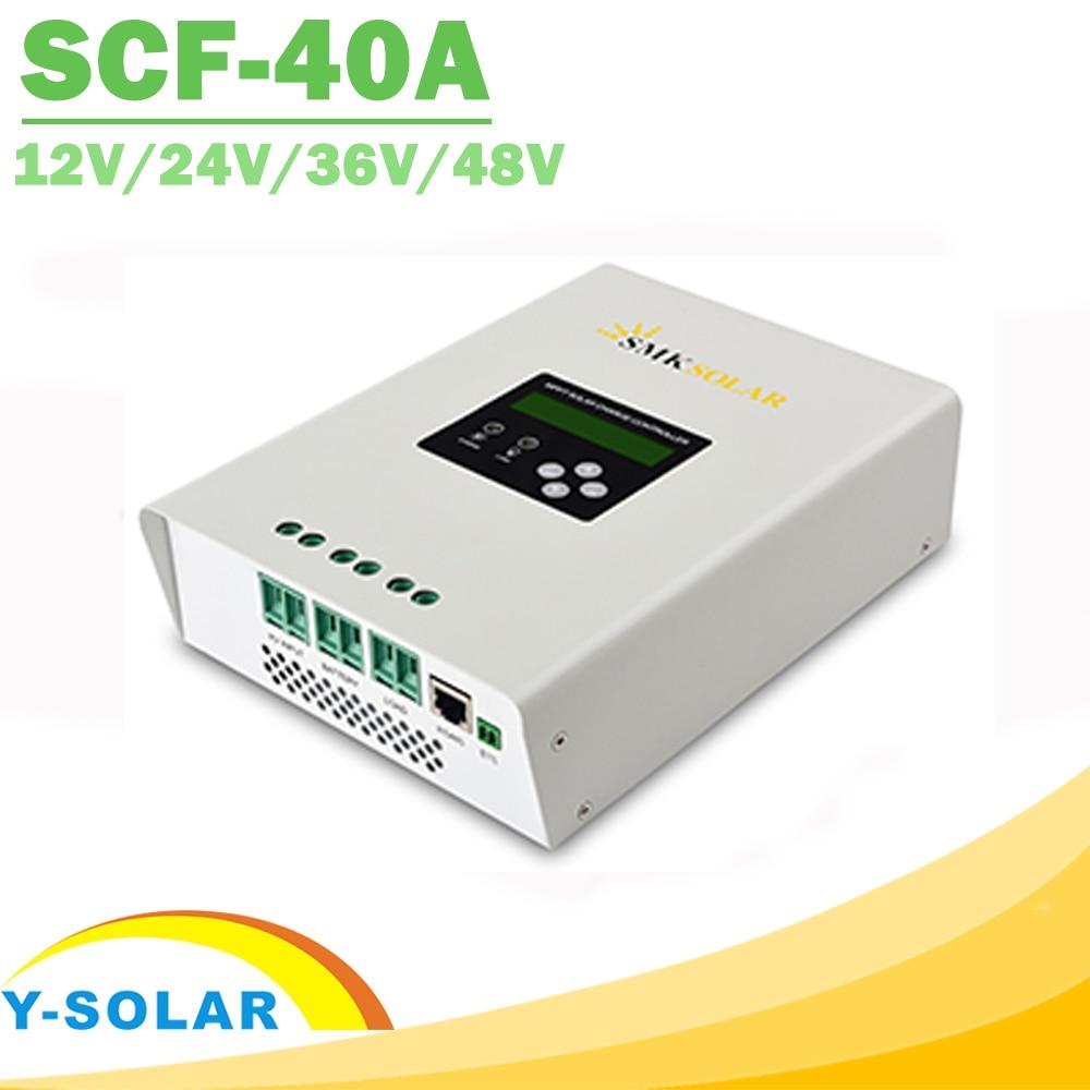 40A <font><b>MPPT</b></font> солнечный регулятор с двойной вентилятор охлаждения RS485 12 В 24 В 36 В 48 В контроллер заряда для max 100 В Панели солнечные Вход Новый