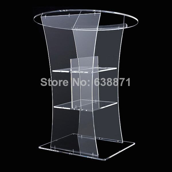 Free Shiping High Quality Modern Design High Lucency Big Acrylic Lectern/Podium
