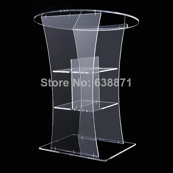 Free Shiping High Quality Modern Design High Lucency Big Acrylic Lectern/Podium