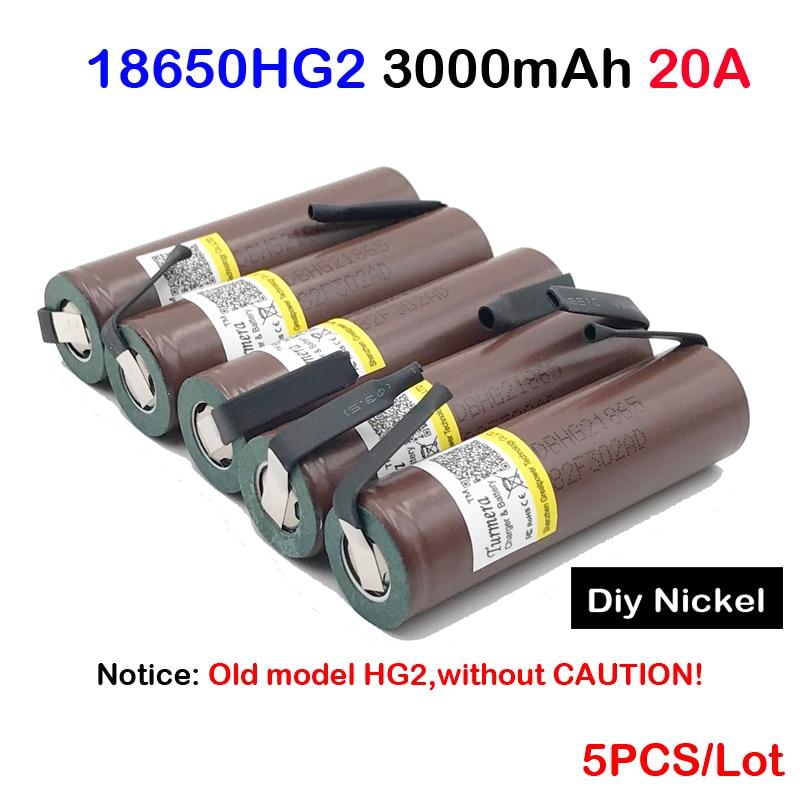 18650 hg2 HG2 3000 mAh Bricolage Nicke 3.6 V décharge 30A dédié Pour E-cigarette Puissance batteries D'origine inr18650 hg2 20a JA26